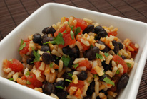 Mexican Tomato Rice and Beans - Hearty black beans and rice with ...
